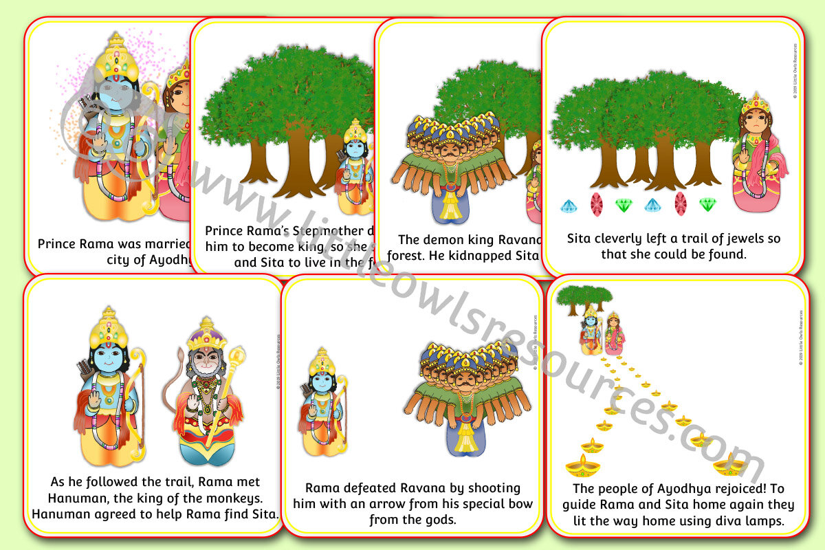 Free Diwali Story Sequence Cards Printable Early Years Ey Eyfs Resource Download Little Owls Resources Free