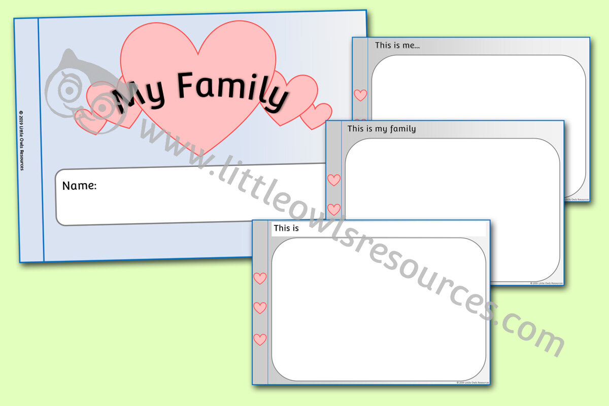 Free My Family Booklet Early Years Eyfs Printable Resource Little Owls Resources Free