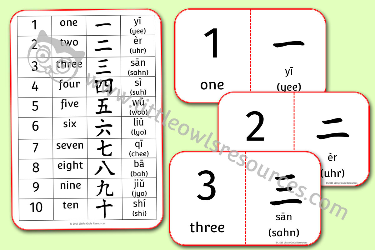 Free Chinese Numbers Printable Early Years Ey Eyfs Resource Download Little Owls Resources Free