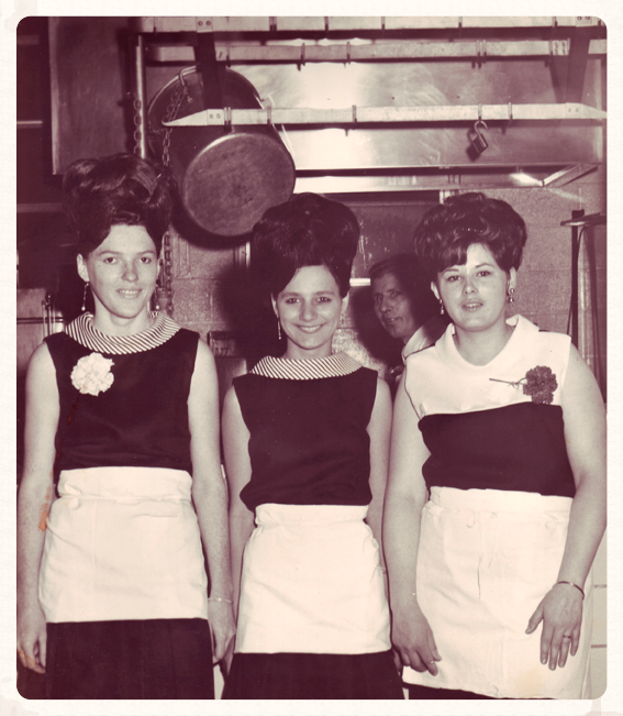 Pat (in the middle) at age 16. The Sip 'N Bite, Baltimore, MD