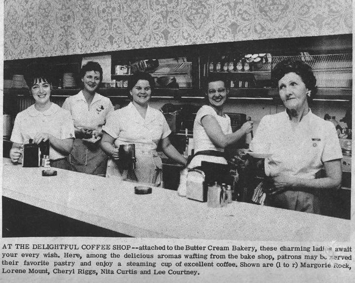 Buttercream diner waitresses (est. 1950s). Napa, CA