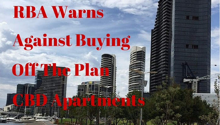 RBA warns against buying off the plan
