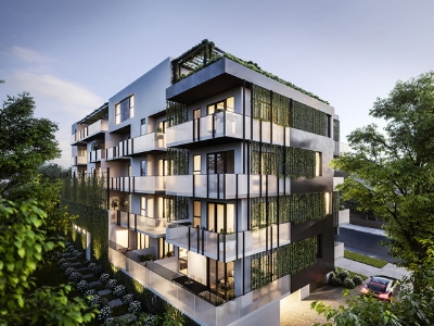 Exterior of Hawthorn East Apartments just 7km to the CBD