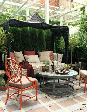 Thom Filica Show House Terrace, via House Beautiful