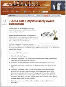 Daytime Emmy Nomination