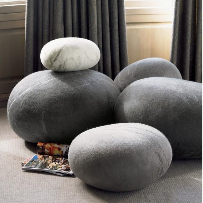 Felted wool stones, Vivaterra, $298-695