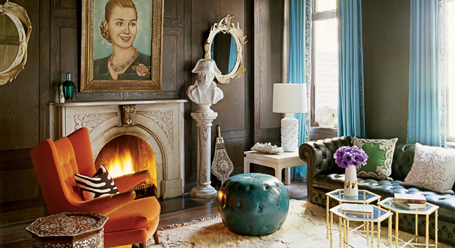 design by Jonathan Adler, photo by William Waldron, styled by Carlos Mota, via  Elle Decor