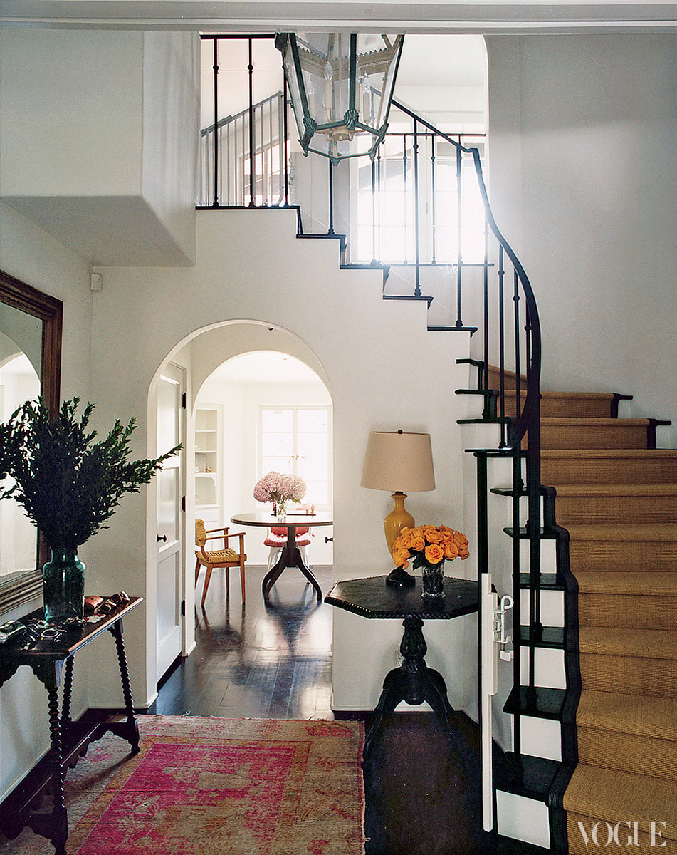Amanda Peet's home, photo by Francois Halard, design by Nathan Turner via  Vogue