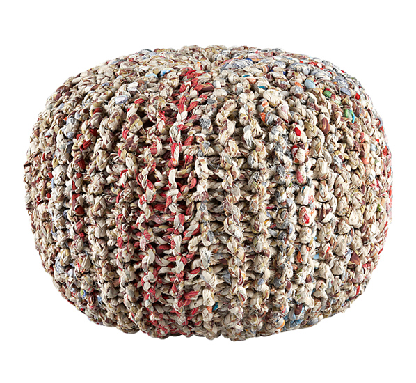 Recycled pouf, CB2, $90