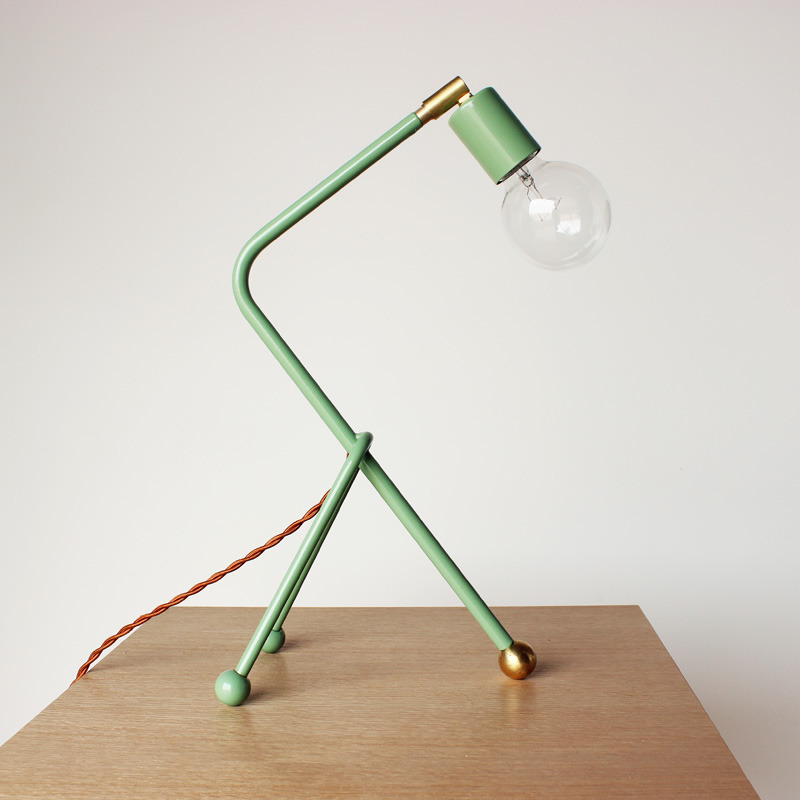 Tripod desk lamp, $95