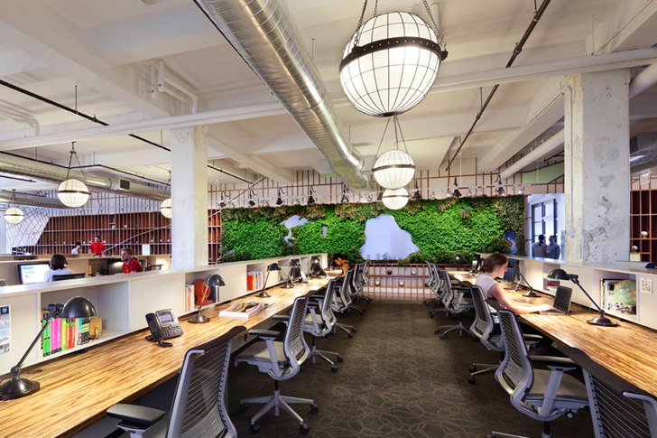 Living wall map of Central Park by LTL architects, via inhabit.com