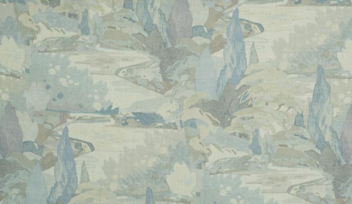 Soo Locks fabric in Frost, $125/yard