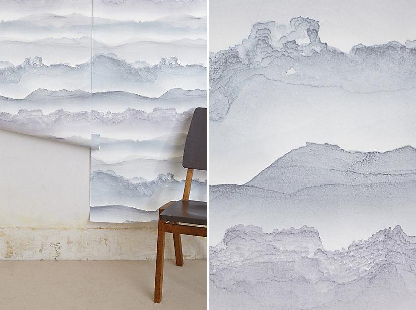 Stirring seas wallpaper, $148