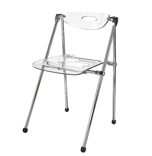 Acrylic telescoping chair $97