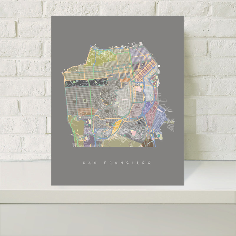 San Francisco map by Treehouse Modern $20