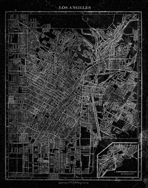 Los Angeles map by Heather Landis $25-60