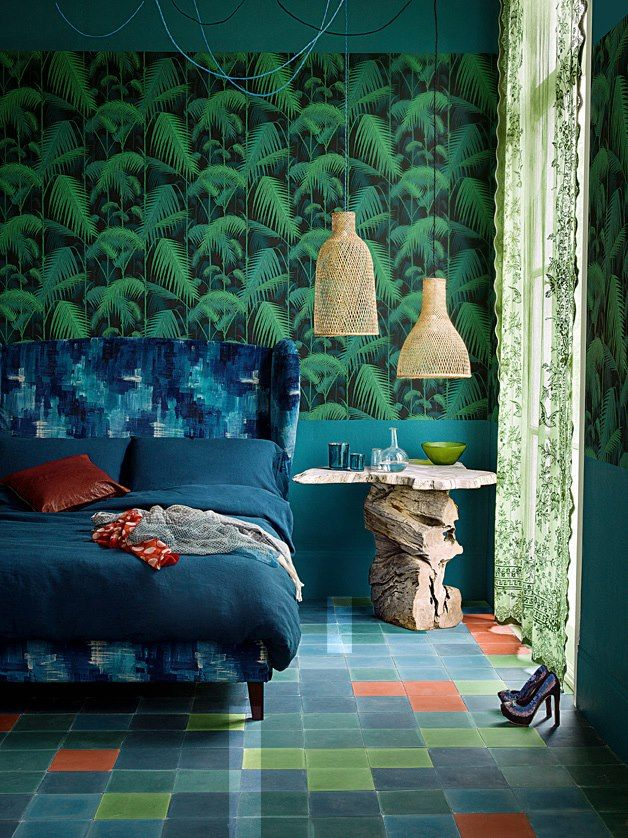 Palm Jungle wallpaper by Cole & Sons, featured in LivingEtc July 2013