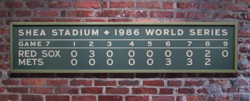 Custom scoreboard sign