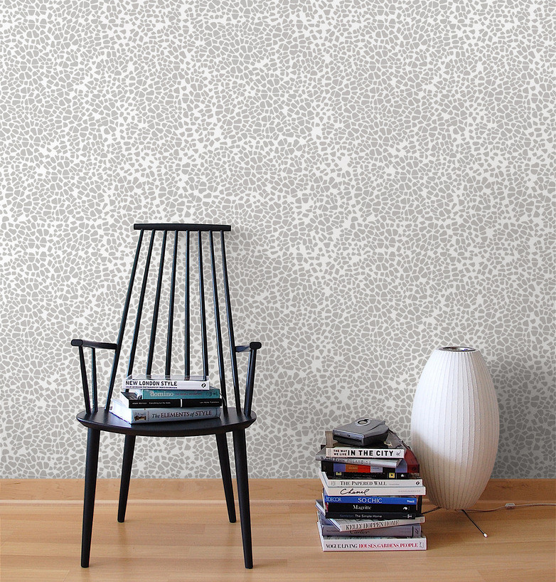 A Stone's Throw Away wallpaper in almost white/gray
