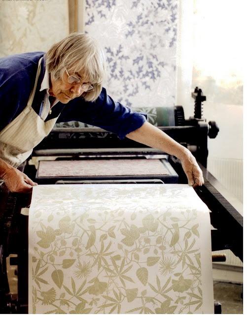 Marthe Armitage at work, via  BBC Gardens Illustrated Magazine