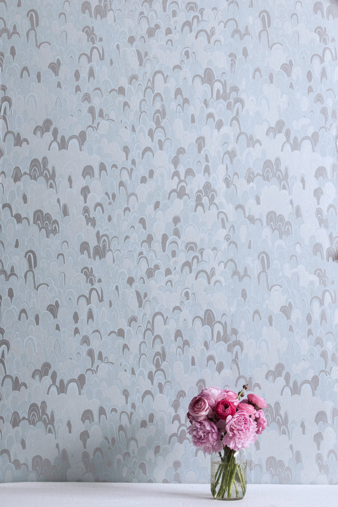 Geodes wallpaper in Chalcedony