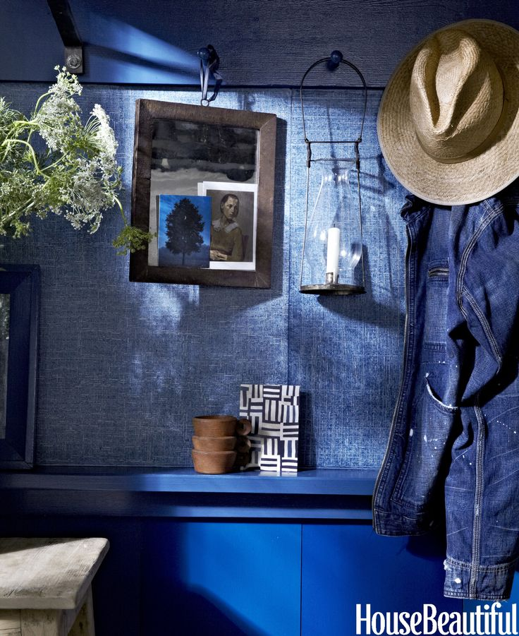 Ralph Lauren's Indigo Denim, via  House Beautiful
