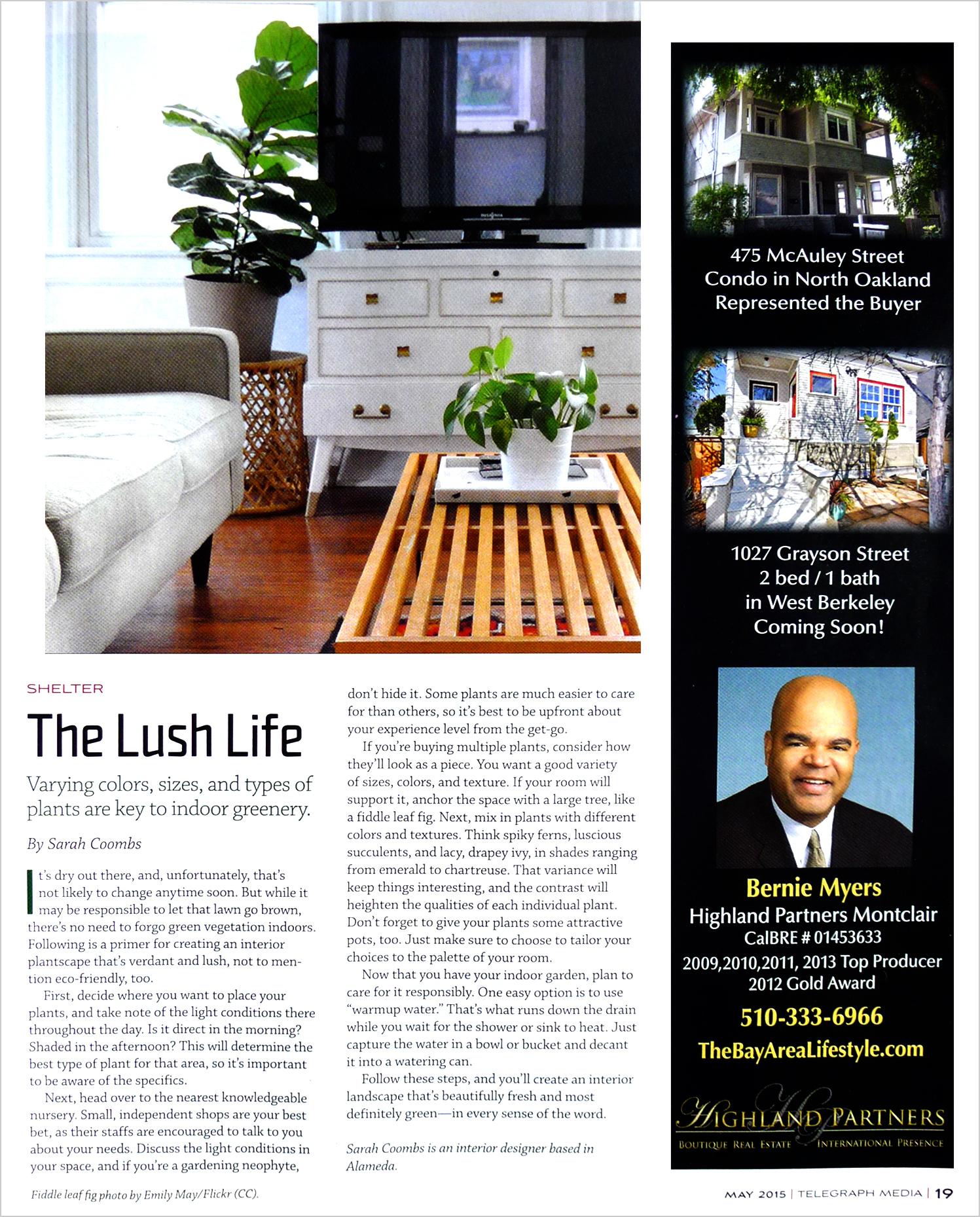 Oakland Magazine  May 2015
