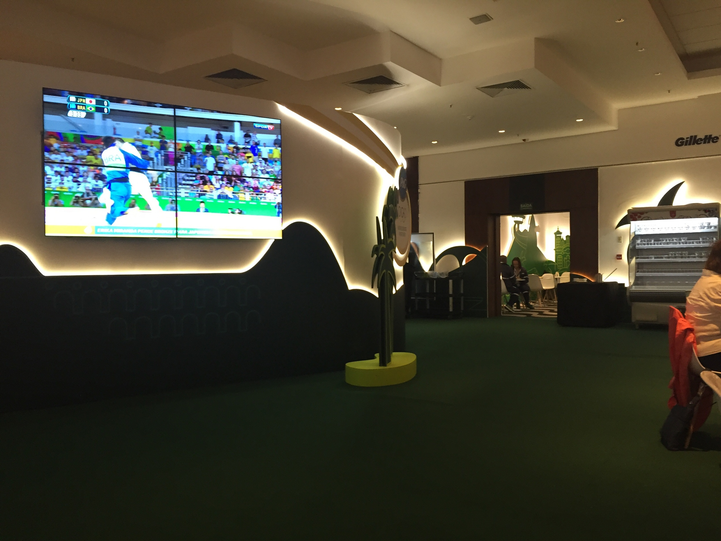 Big screen TV's on every wall and space to watch the other games and Olympic coverage with family and friends