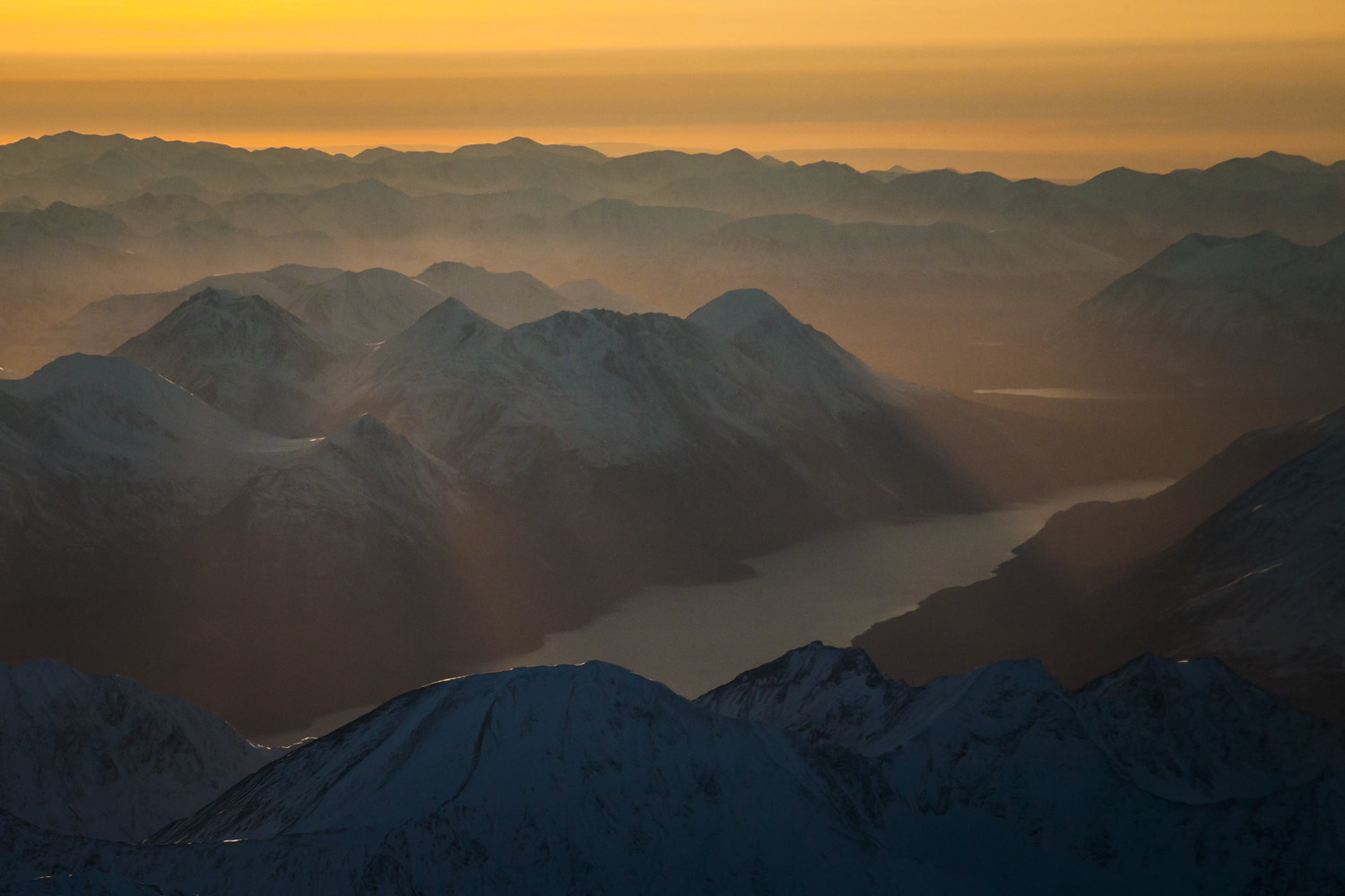 Light Over The Kenai Mountains