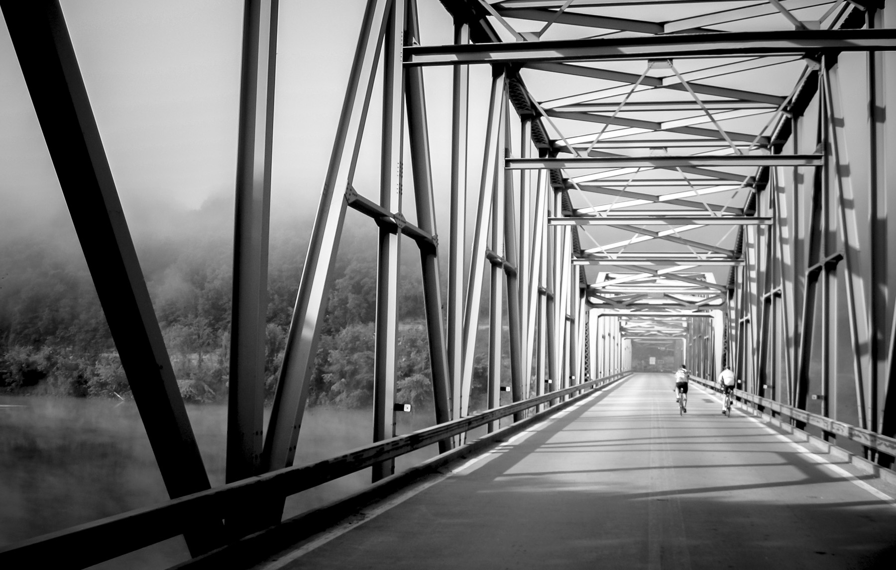 Bridge over Wisconsin River during Grabaawr. A week long bike tour from Eagle River to Praire Du Chein.