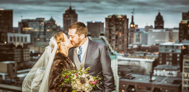 Milwaukee rooftop Wedding julian kegel