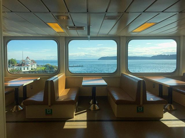 Moving Picture Window. Ferry to Whidbey Island, WA