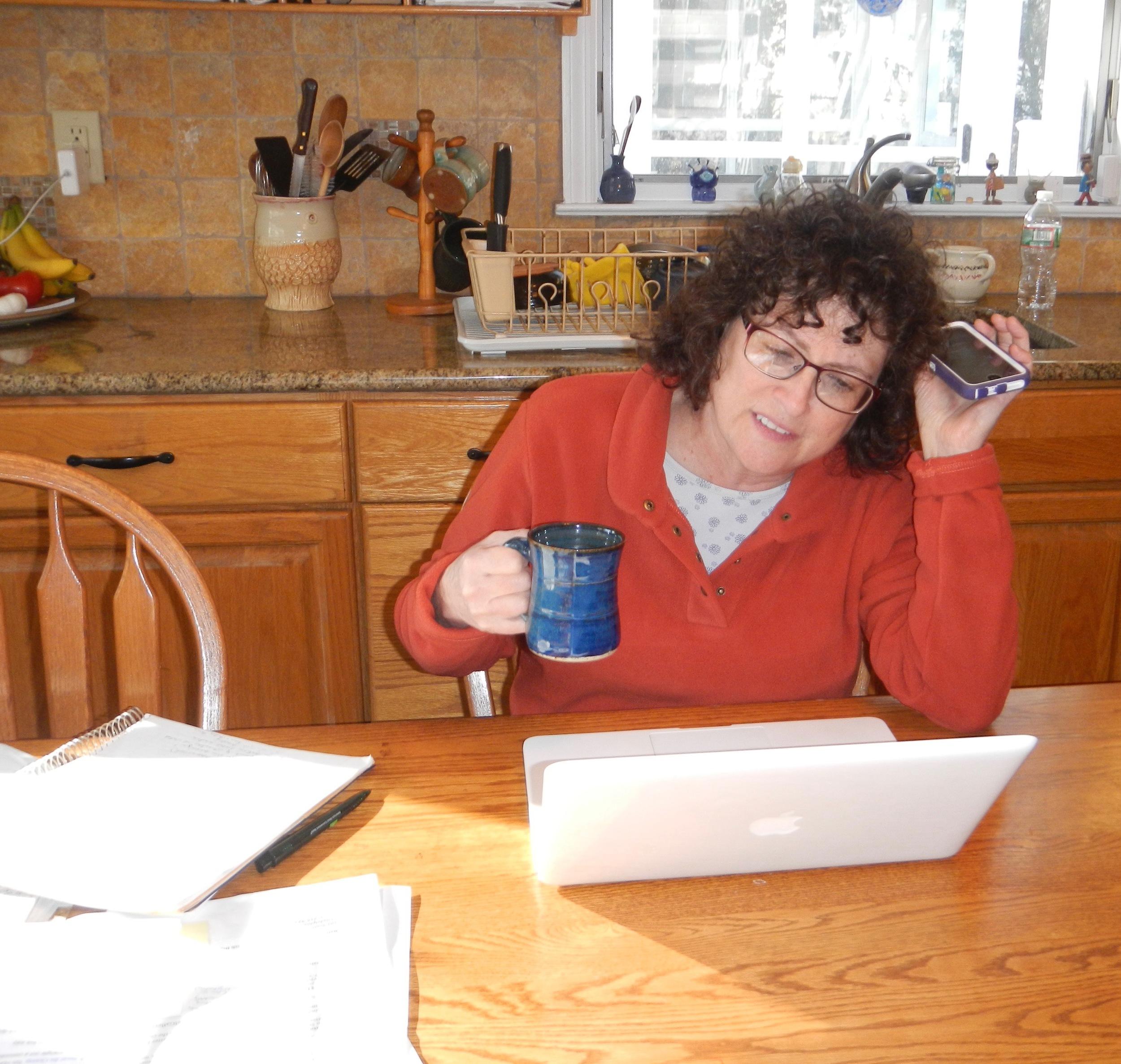 "(Multitasking- pottery ""desk"" in the kitchen.Mimi Stadler Pottery, 2016. photo Rosa Campos)"