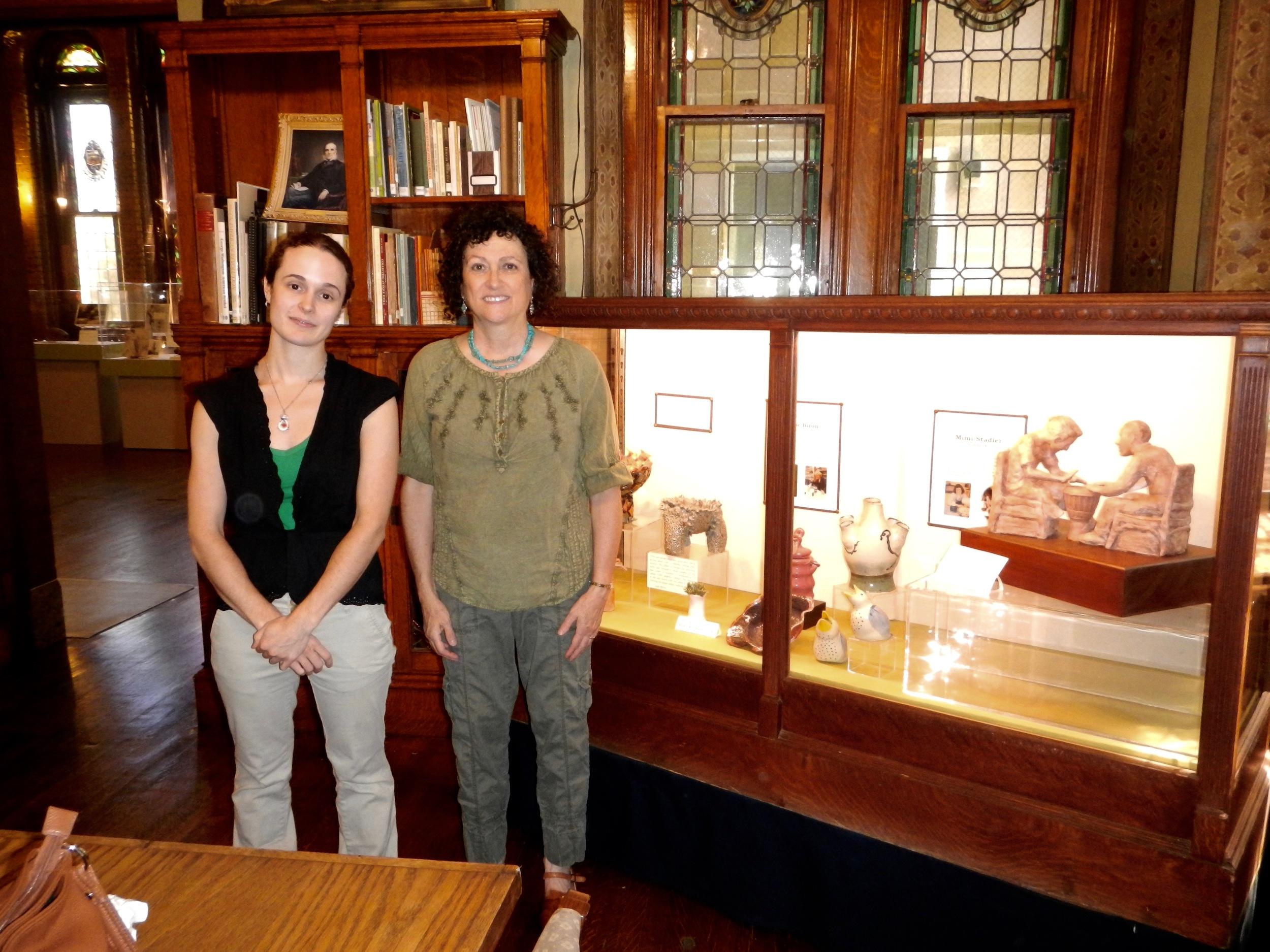 Mimi Stadler (right) and Kristin Lapos, Curator at METC (Photo Mimi Stadler 2016)