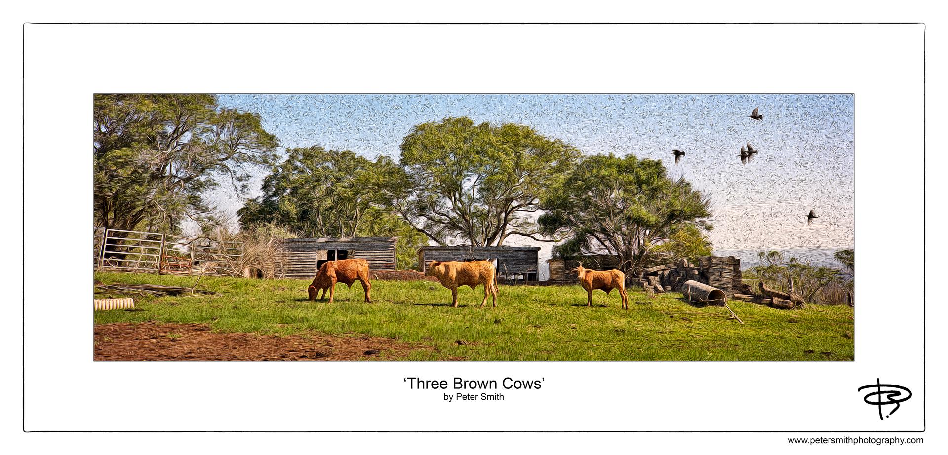 Number 40, 2014, 'Three Brown Cows'