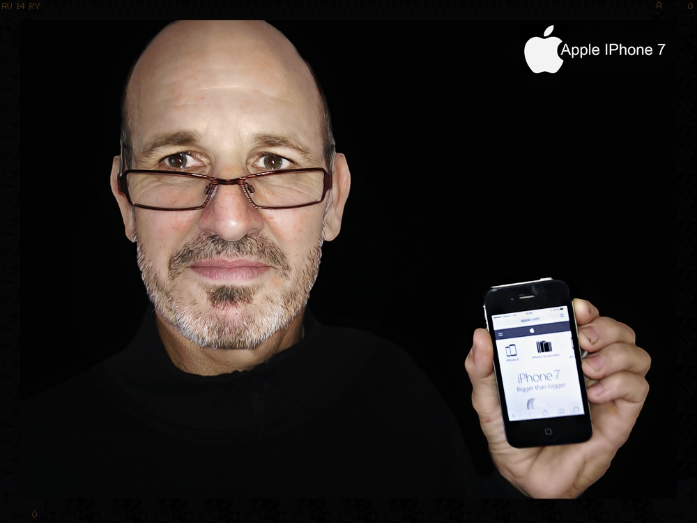 Curly drops in for Xmas to show us his new iPhone 7  (image taken on iPhone)