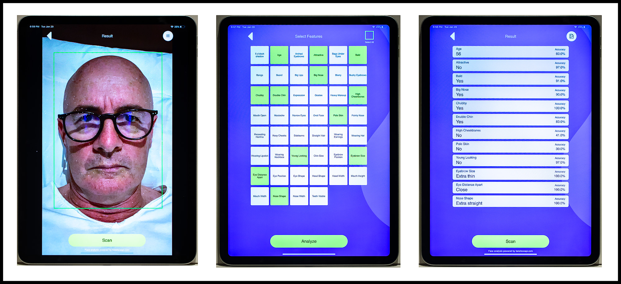 iPad Application BetaFace