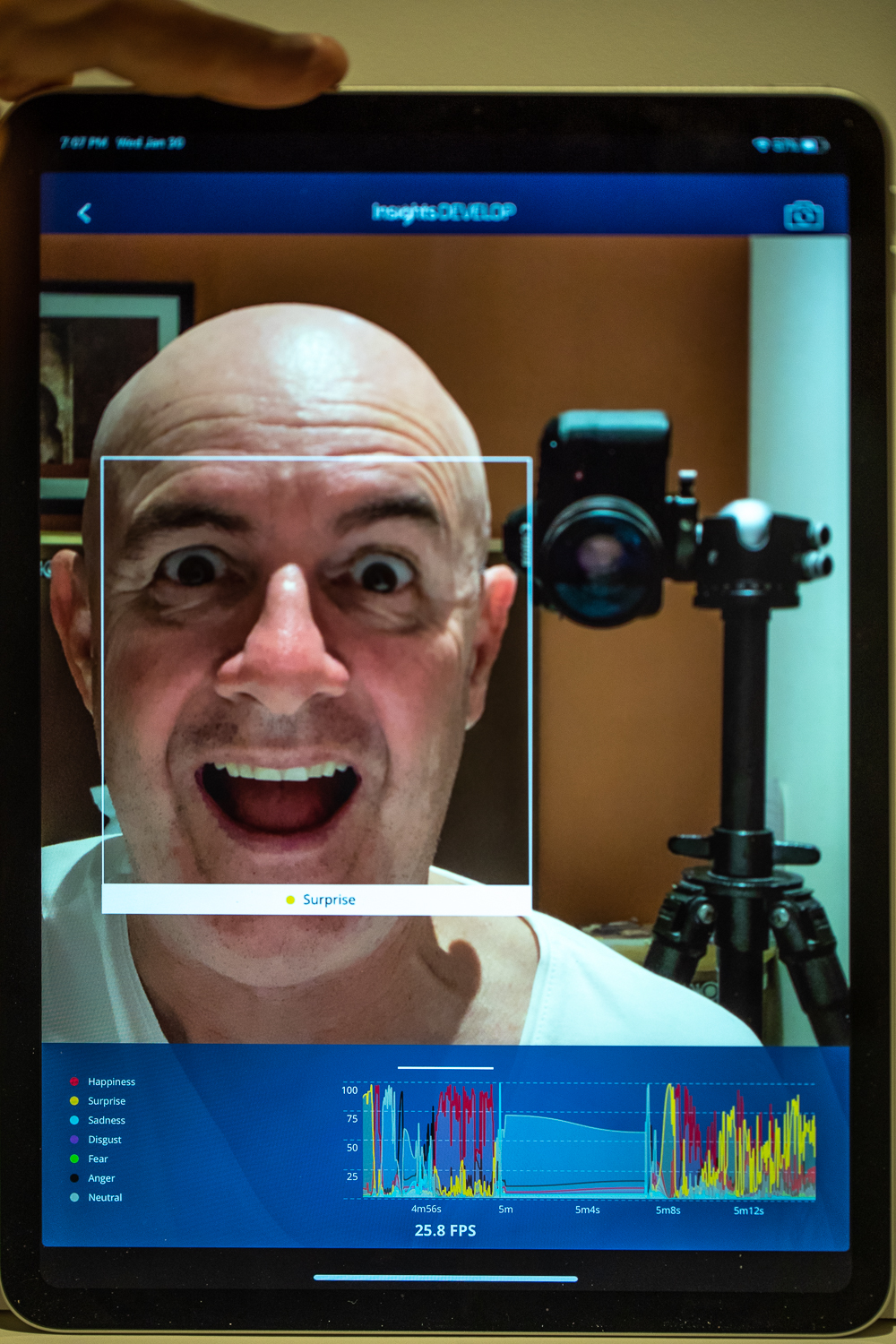 Expression identifier and emotion tracking graph