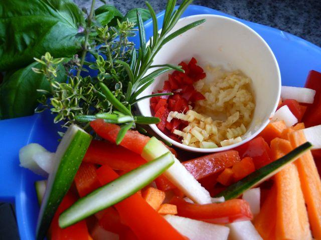 Sommerliches Gemüse