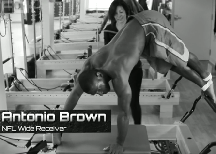 REAL MEN DO PILATES!!   Watch American football player Antonio Brown from the Pittsburgh Steelers do his Pilates workout.