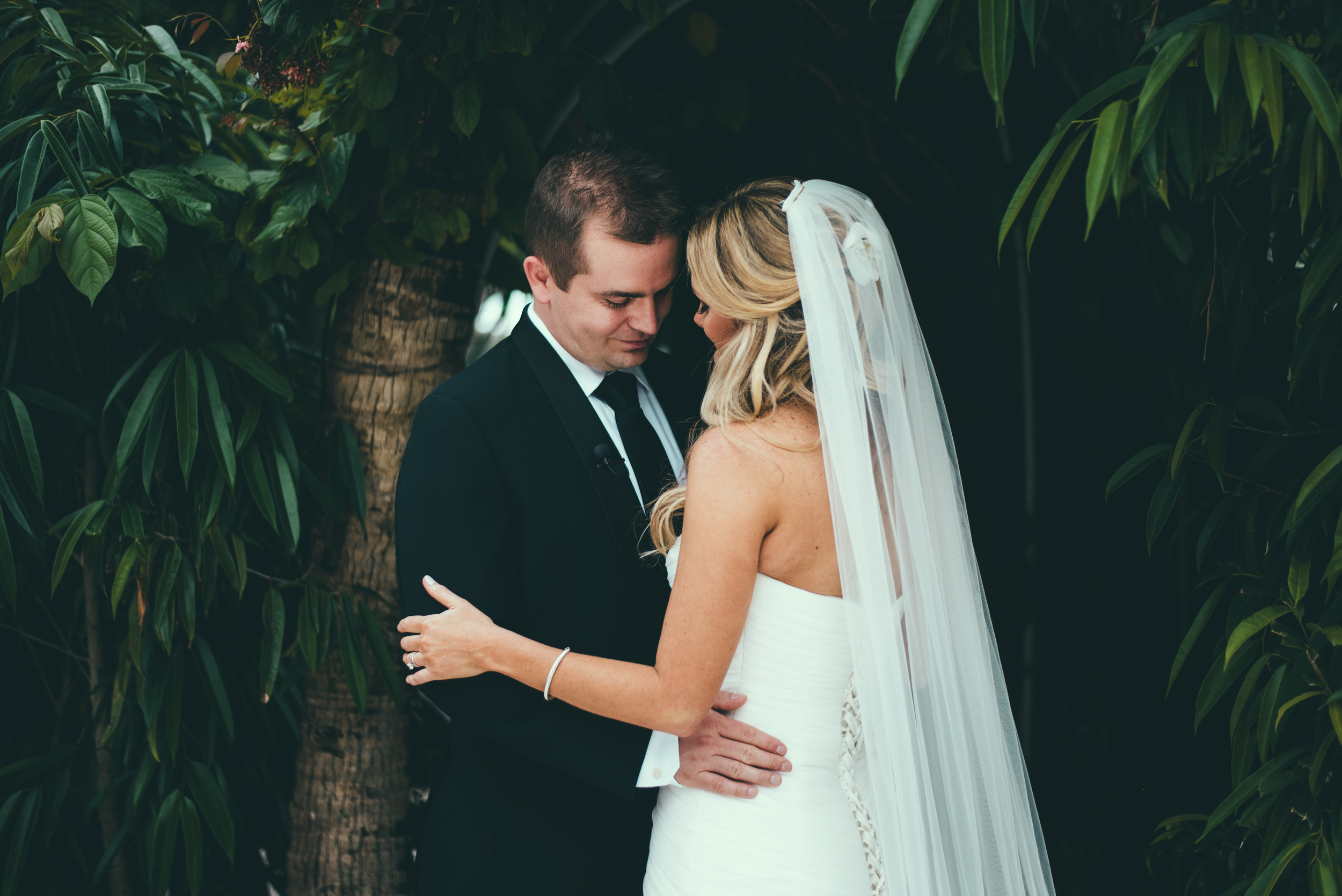 The Palms Hotel & Spa Wedding Miami Florida Photographer First Look Groom Bride Intimate moment