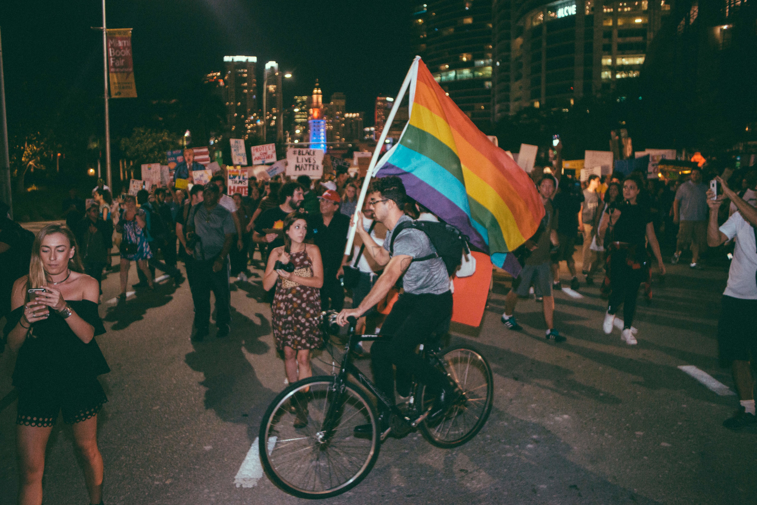 Still one of the most incredible moments in my life going out to Miami and photographing history. This guy was riding his bike with a pride flag, it was at this very moment when I realzied I had lost my phone.