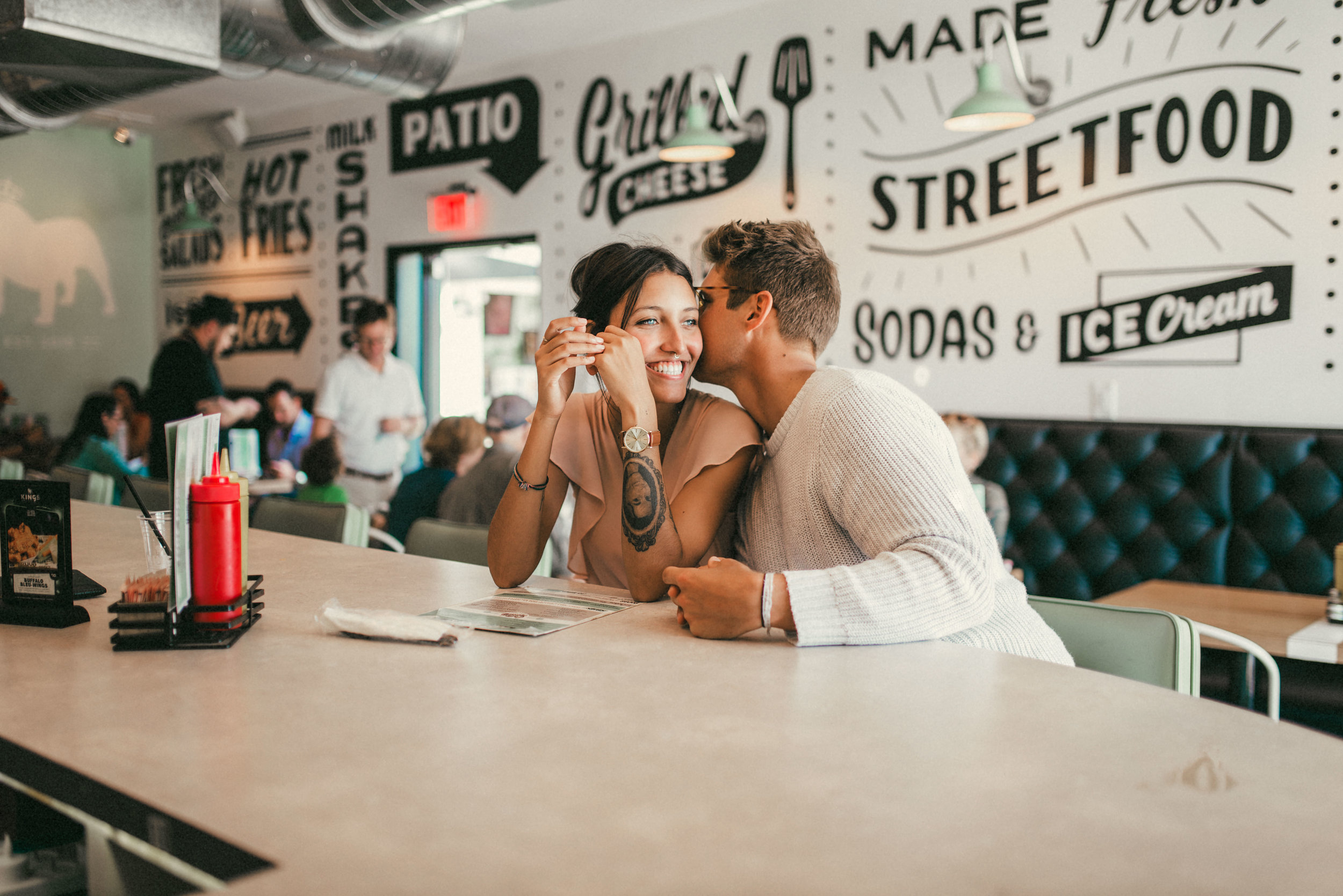 Hillary and Brandon at Kings Street Food St Pete - couple portraits - st pete florida - naples florida wedding photographer - tampa wedding photographer
