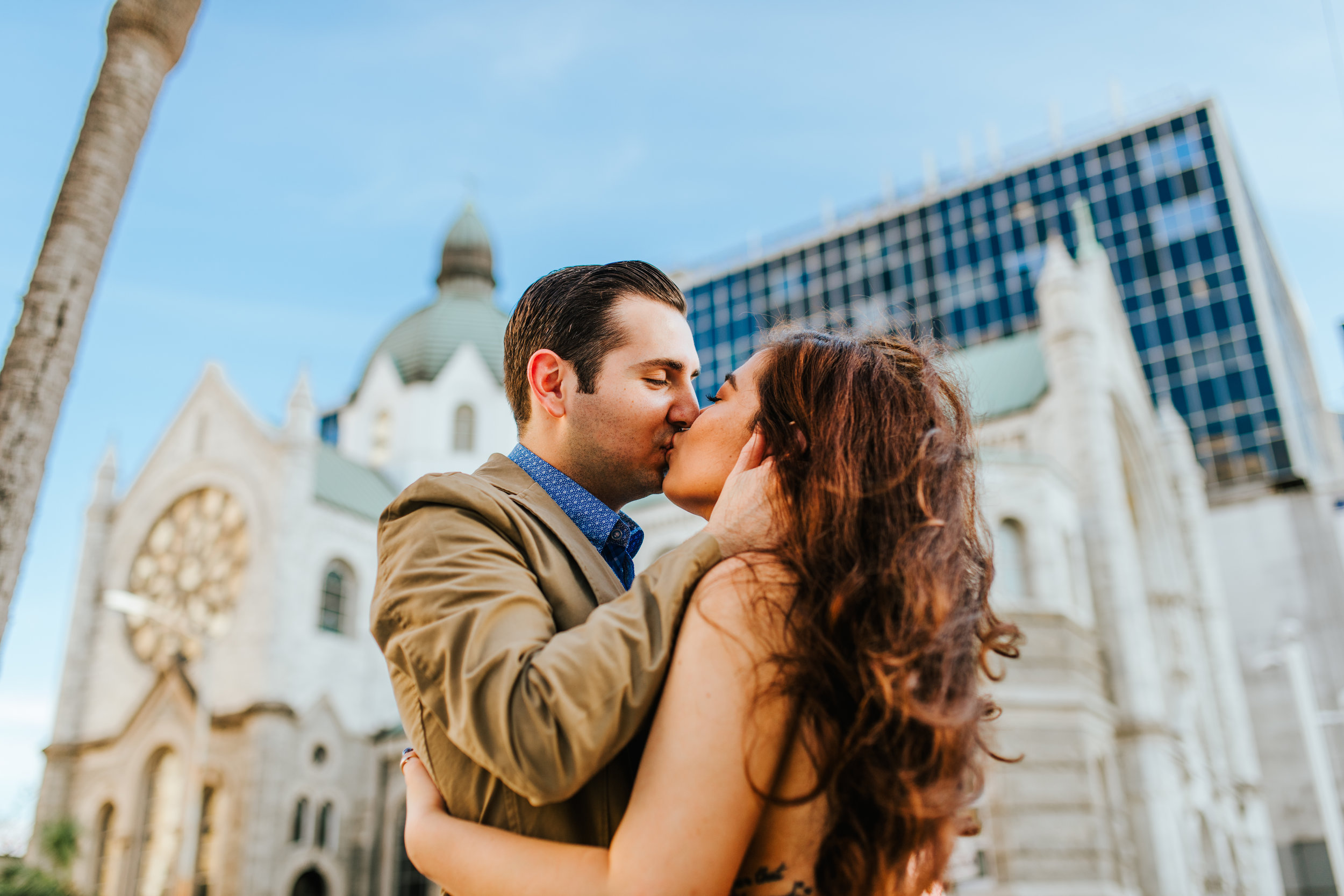 Jeanneane & John's Downtown Tampa Engagement session - Sacred Heart Catholic Church