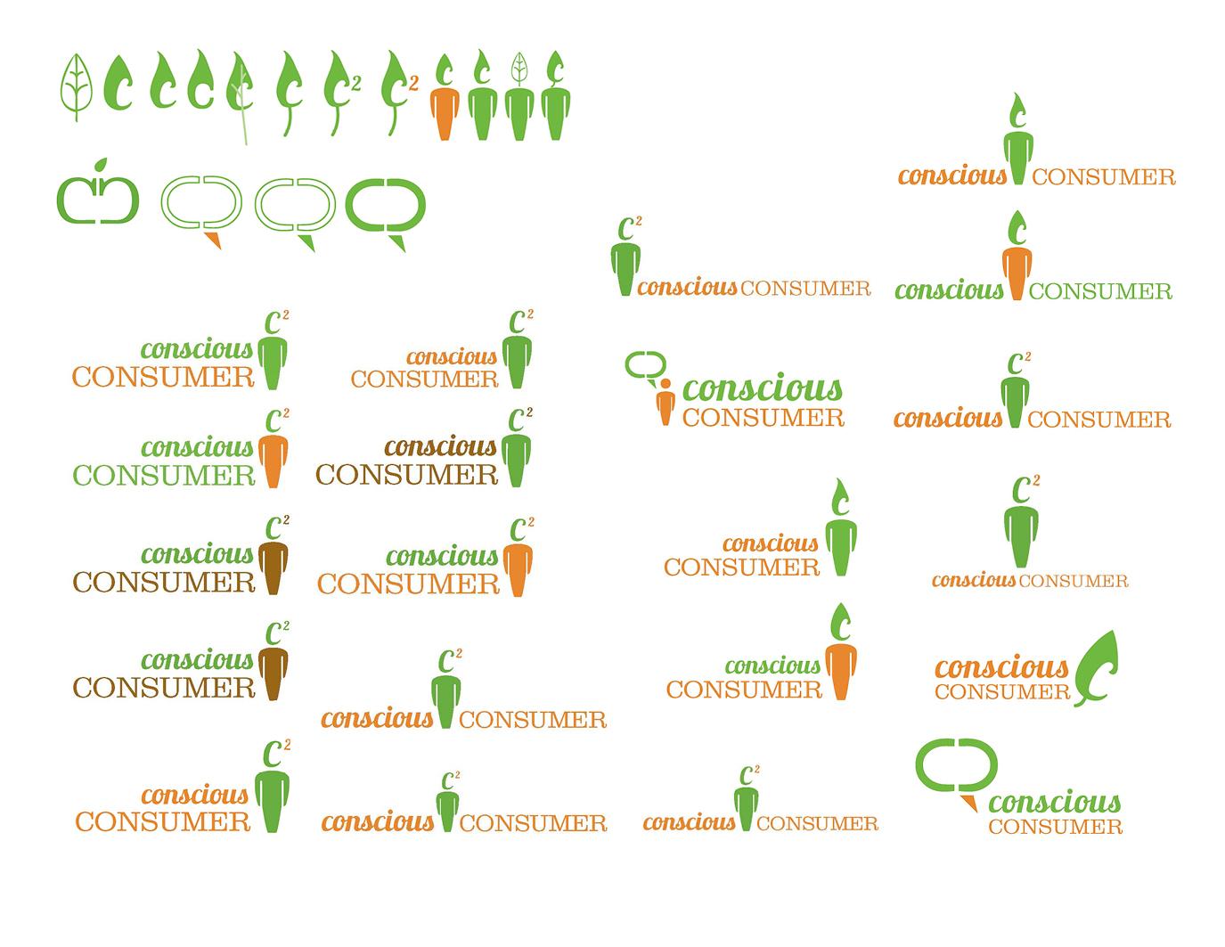Logo ideation process.