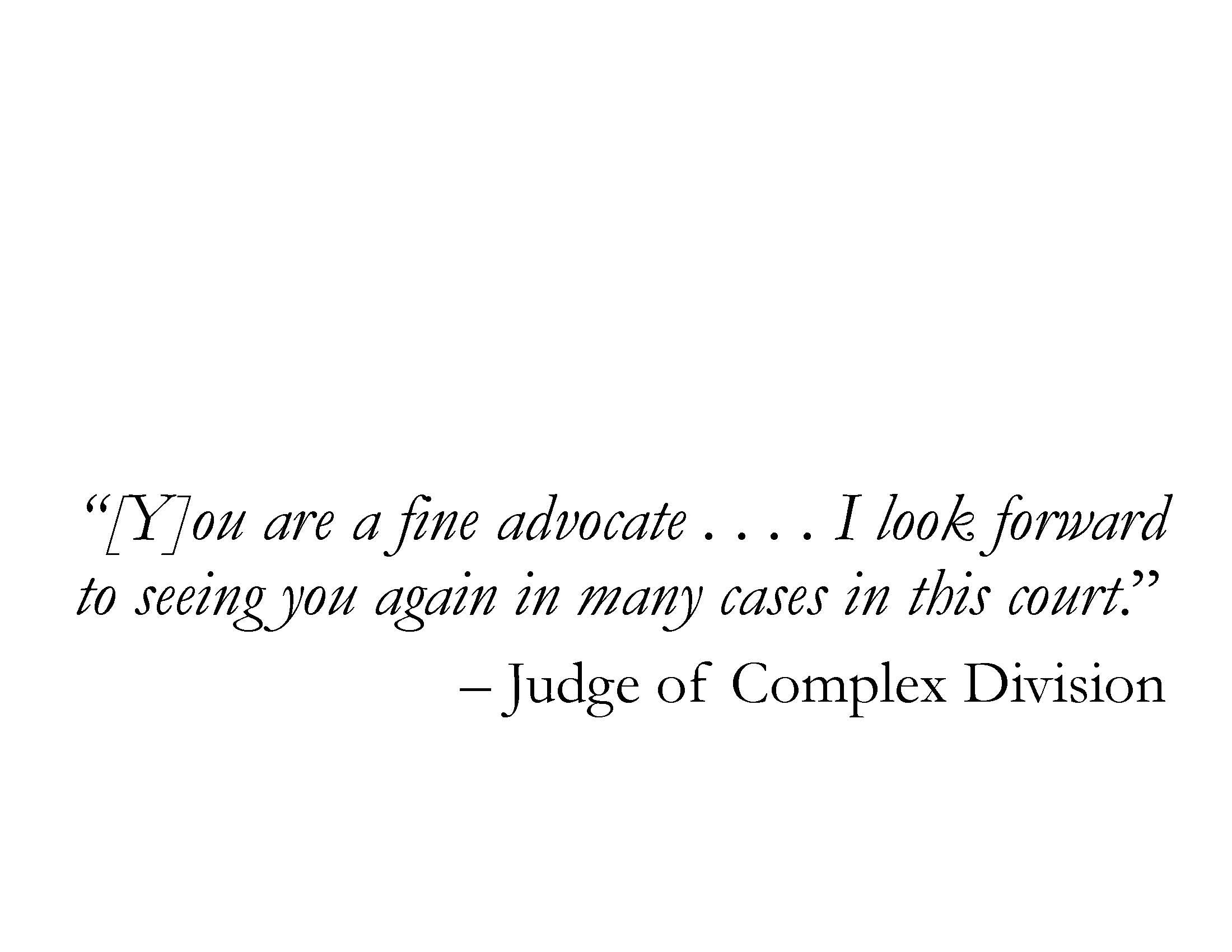 IN THE WORDS OF THE COURT: