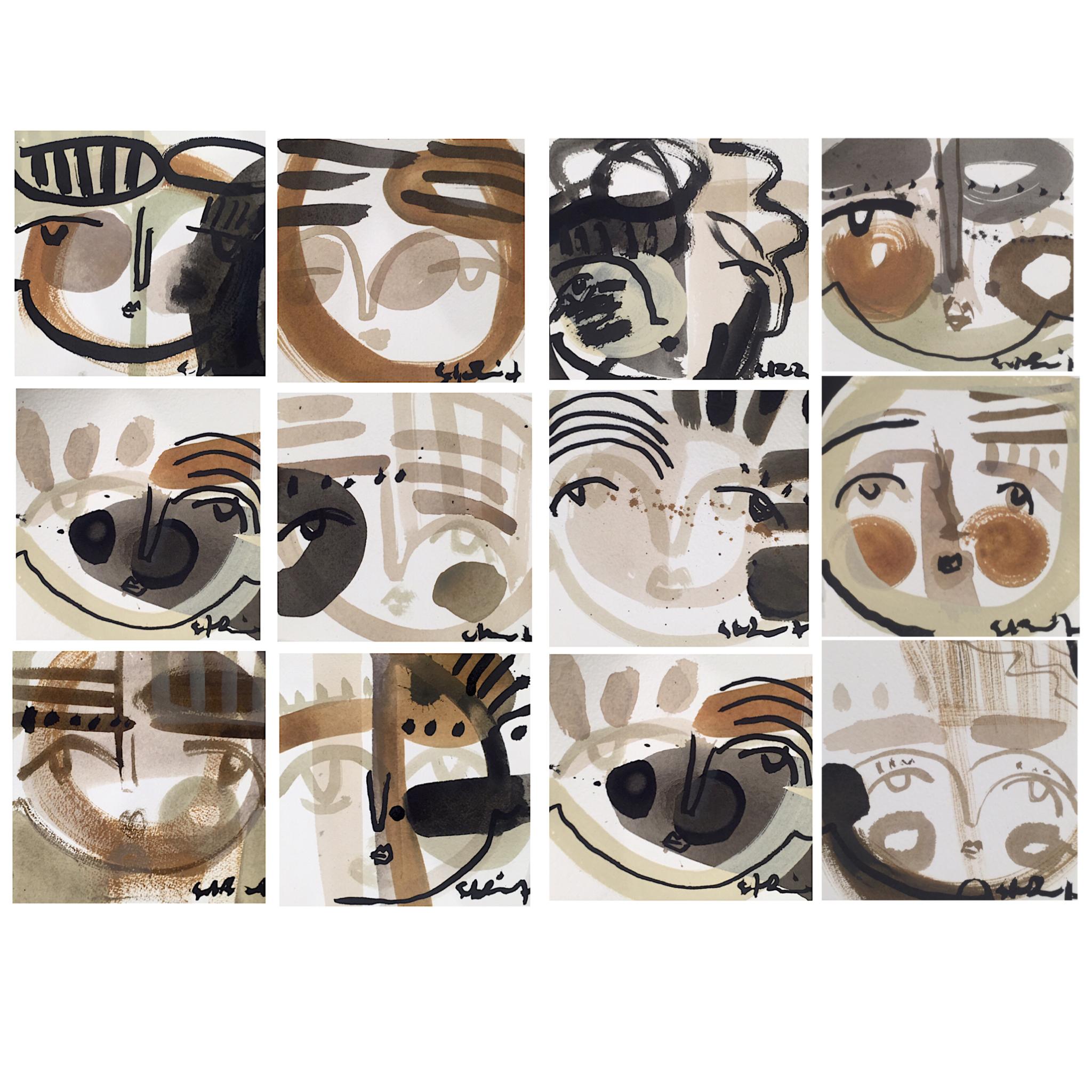 DOZIER, Maggie - 12 5x5 works on paper.jpg