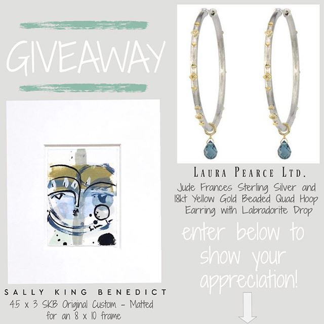 I've teamed up with my favorite Atlanta jeweler @laurapearceltd for a teachers-nurses-moms giveaway! See their post below.........✨✨✨✨✨✨✨✨✨✨✨✨✨✨✨✨✨✨✨✨✨✨and good luck!!!!xo sally  @laurapearceltd + @sallykingbenedict 🌟GIVEAWAY🌟 to show our appreciation and say thank you to all the Teachers + Nurses + Moms! We are so grateful for all they do! Who wouldn't love an amazing custom matted SKB original or a pair of Jude Frances hoop earrings?! .  To Enter: 1️⃣ Follow @laurapearceltd and @sallykingbenedict and like this post! 2️⃣ Tag that one person who has made an impact on you! The winner will drawn and announced on Instagram Saturday at 12pm 🎉 . . . . #laurapearceltd #sallykingbenedict #skbfaces #mothersday #teacherappreciationweek #nurseappreciation