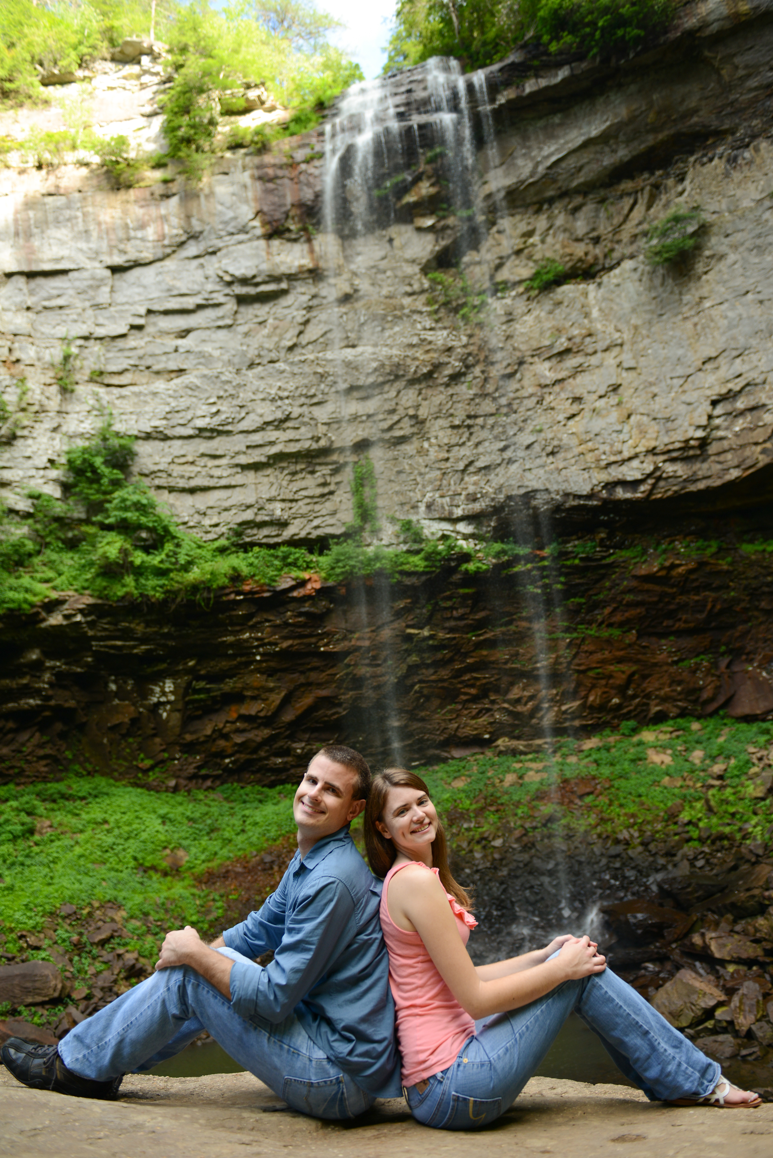 For James & Alyssa's engagement session we hiked to one of their favorite waterfalls, Fall Creek Falls.