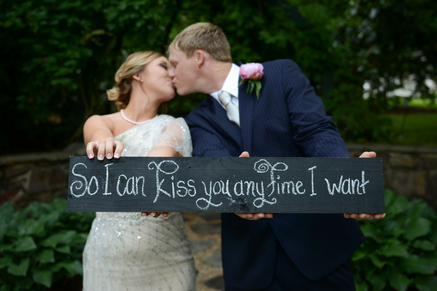 """Kathryn & Marvin's Oak Hill Plantation Wedding was held at the movie set of """"Sweet Home Alabama"""", so Kathryn created a cute sign with a famous quote from the movie."""